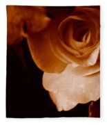 Sepia Series - Rose Petals Fleece Blanket