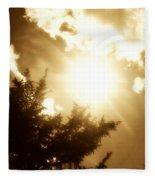 Sepia Sky Fleece Blanket