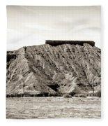 Sepia Tones Nature Landscape Nevada  Fleece Blanket