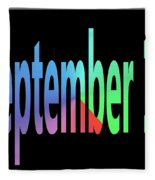 September 12 Fleece Blanket
