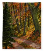 September Road Fleece Blanket