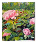 September Roses Fleece Blanket