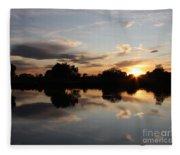 September Sunset In Prosser Fleece Blanket