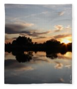 September Sunset In Prosser Fleece Blanket