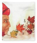 Seqouyahs Gift To The Cherokee Fleece Blanket