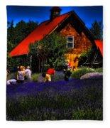 Sequim Lavender Fleece Blanket
