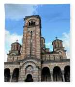Serbian Orthodox Church Of Saint Mark Belgrade Serbia Fleece Blanket