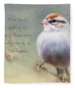 Serendipitous Sparrow - Quote Fleece Blanket