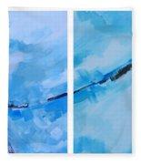 Entangled No.7 - Abstract Painting Fleece Blanket