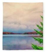 Serene Lake Harmony Fleece Blanket