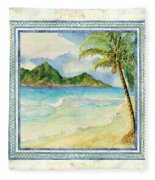 Serene Shores Tropical Island Beach Palm Paradise Painting By Audrey Jeanne Roberts
