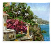 Serene Sorrento Fleece Blanket