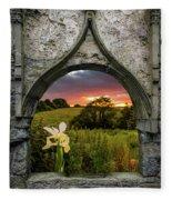 Serene Sunset Over County Clare Fleece Blanket by James Truett