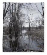Serene Swampy River Fleece Blanket