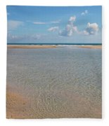 Serene Tidal Pool By The Sea Fleece Blanket