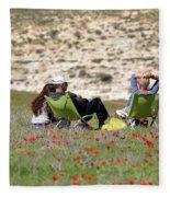 Serenity At Lachish Fleece Blanket