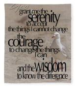 Serenity Prayer 01 Fleece Blanket