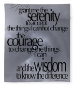 Serenity Prayer 05 Fleece Blanket