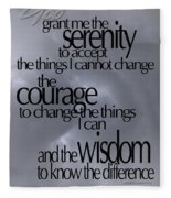 Serenity Prayer 05 Fleece Blanket