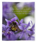 Serenity Prayer Fleece Blanket