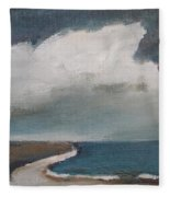 Serenity Under Clouds Fleece Blanket