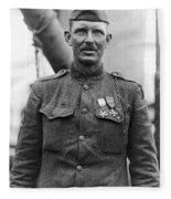 Sergeant York - World War I Portrait Fleece Blanket