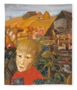 Sergei Esenin 1895-1925 As A Youth, Boris Grigoriev Fleece Blanket