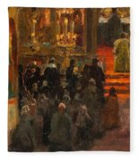 Sergey Dmitrievich Miloradovich Russian 1851-1943 Uspenskiy Cathedral, 1917 Fleece Blanket