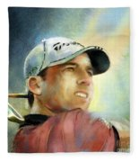 Sergio Garcia In The Castello Masters Fleece Blanket