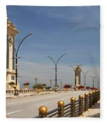 Seri Gemilang Bridge In Putrajaya Fleece Blanket