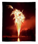 Series Of Fireworks 2 Fleece Blanket
