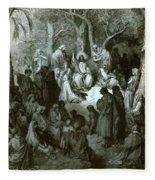 Sermon On The Mount Fleece Blanket