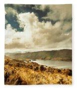 Serpentine Dam Tasmania Fleece Blanket