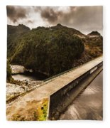 Serpentine River Crossing Fleece Blanket