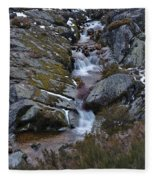 Serra Da Estrela Mountains And Waterfall Fleece Blanket