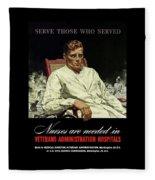 Serve Those Who Served - Va Hospitals Fleece Blanket