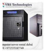 Server Rental Dubai,dedicated Servers For Rent In Dubai Fleece Blanket