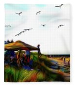 Sesuit Tetraptych 2 Fleece Blanket