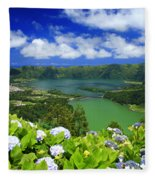 Sete Cidades Crater Fleece Blanket