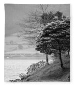 Sete Cidades Lakes Fleece Blanket