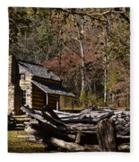 Settlers Cabin Fleece Blanket
