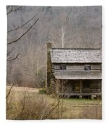 Settlers Cabin In Cades Cove Fleece Blanket