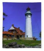 Seul Choix Point Lighthouse Fleece Blanket