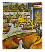 Seurat: Circus, 1891 Fleece Blanket
