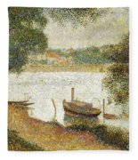 Seurat: Gray Weather Fleece Blanket