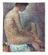 Seurat: Model, 1887 Fleece Blanket