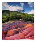 Seven Colored Earth In Chamarel. Mauritius Fleece Blanket