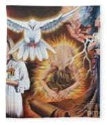 Seven-fold Spirit Of The Lord Fleece Blanket