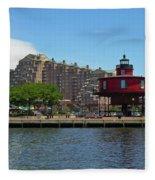Seven Foot Knoll Lighthouse Fleece Blanket