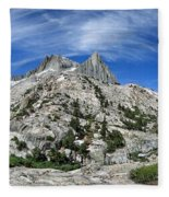 Seven Gables Over Seven Gables Lakes - Sierra Fleece Blanket